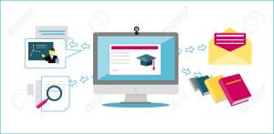 Online Education Icon Flat Design